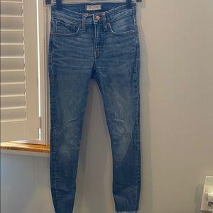 """Madewell 9"""" high rise skinny jean"""
